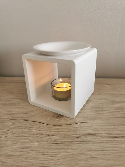 Brûle parfum Simply wood blanc