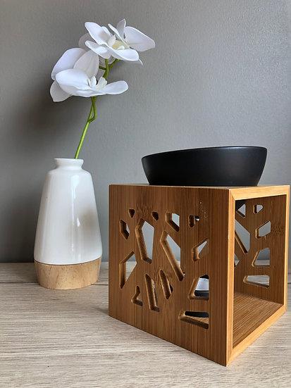 Brûle parfum Pattern Bambou noir