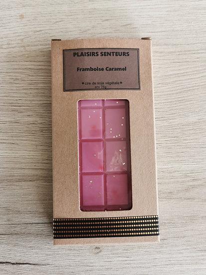 Tablette framboise caramel env 75g