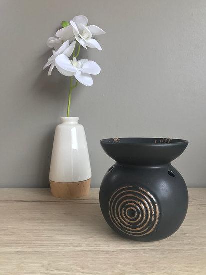 Brûle parfum spirale noir