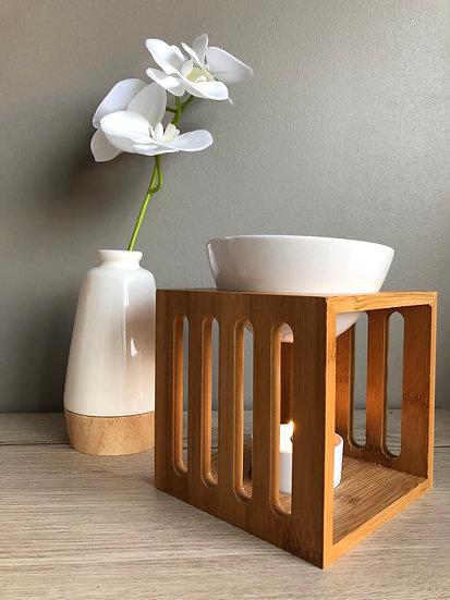 Brûle parfum bambou et blanc