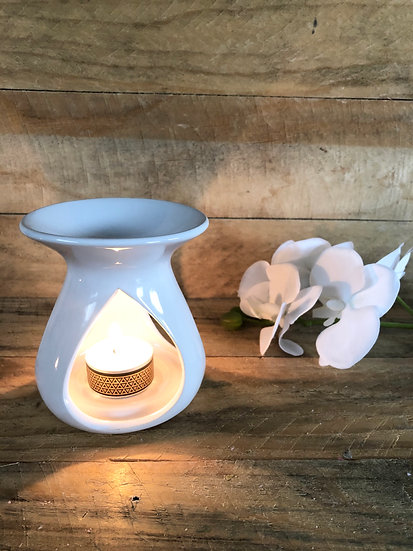 Brûle parfum Timeless blanc