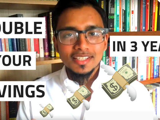 How to DOUBLE your savings in 3 years