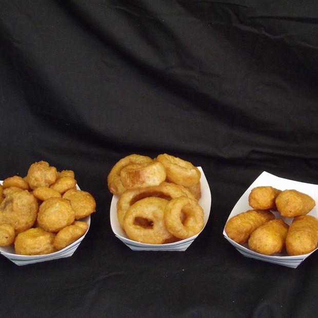 Fried Mushrooms,Onion Rings,Mozzarella Sticks