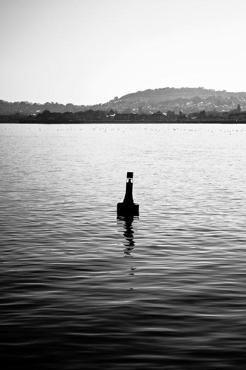 A Lone Buoy (Black & White Version 1)