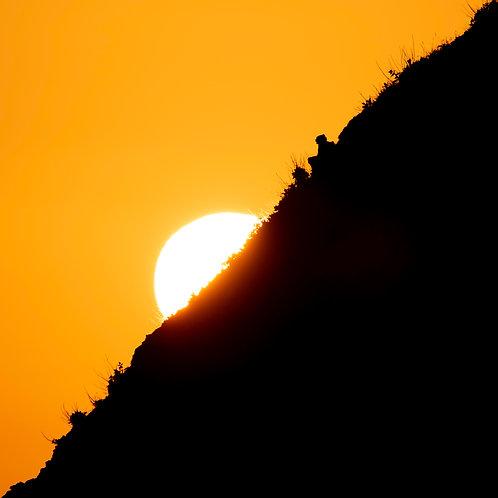 Sunset at Lulworth Cove