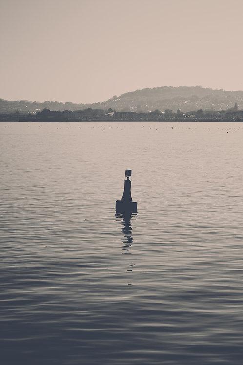 A Lone Buoy (Black & White Version 2)