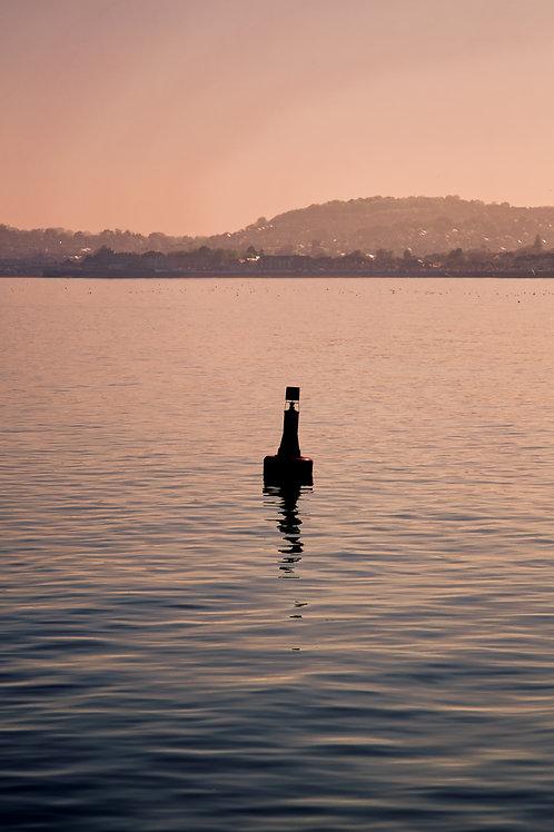 A Lone Buoy (Pink Hues Version)