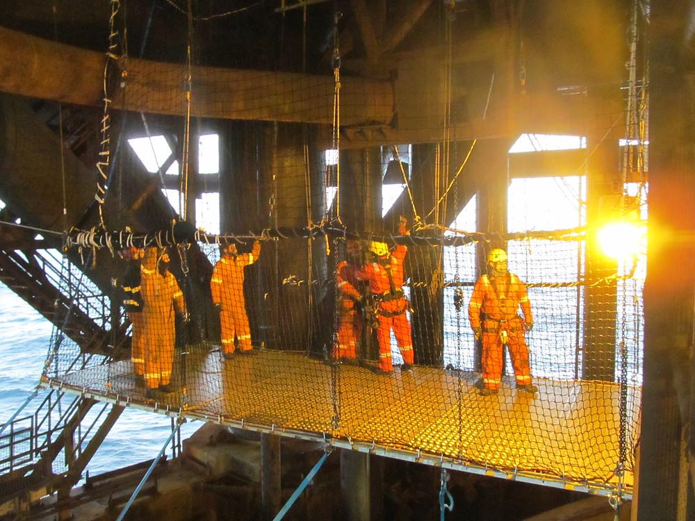 7.5m below the cellar deck - reaching parts scaffolding cannot reach