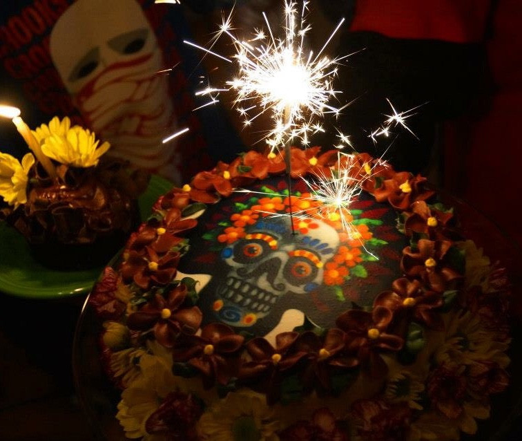 Day Of The Dead Birthday Cake Just Because