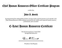 Chief Human Resources Officer Certificat