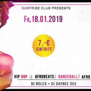 SURPRISE CLUB - AFRO & BLACK MUSIC PARTY
