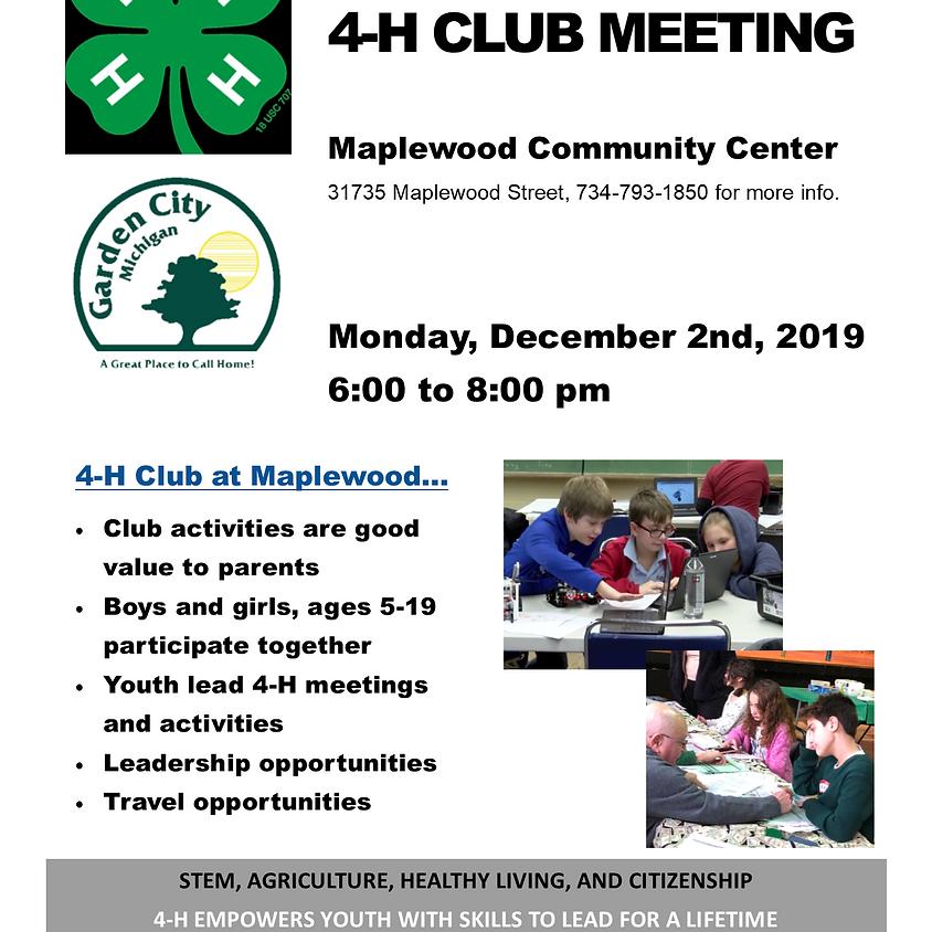 4-H Club General Meeting