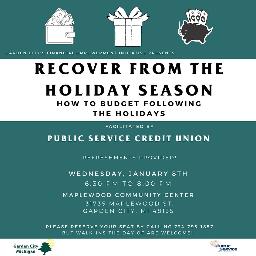 Recover from the Holiday Season