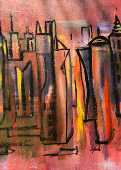 Red City Scape