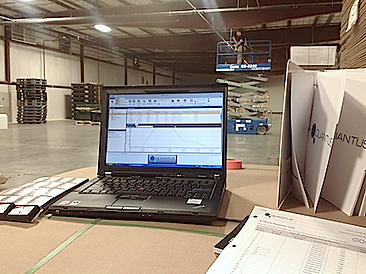 Quantus warehouse temperature mapping validation service