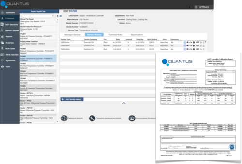 Quantus validated field service software