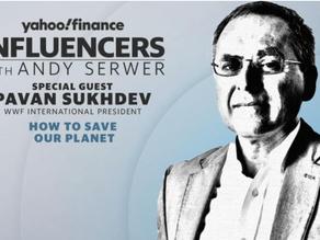 Pavan Sukhdev in conversation with Andy Serwer at Yahoo!Finance