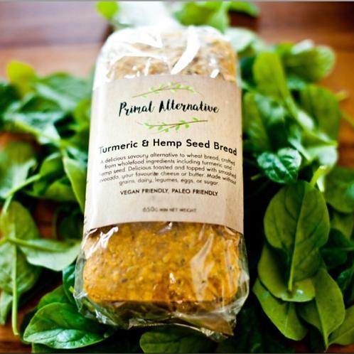 Turmeric and Hemp Seed Bread