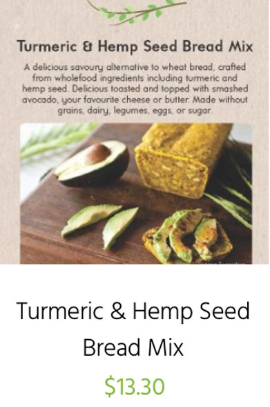 Turmeric and Hemp Seed Bread Packet Mix