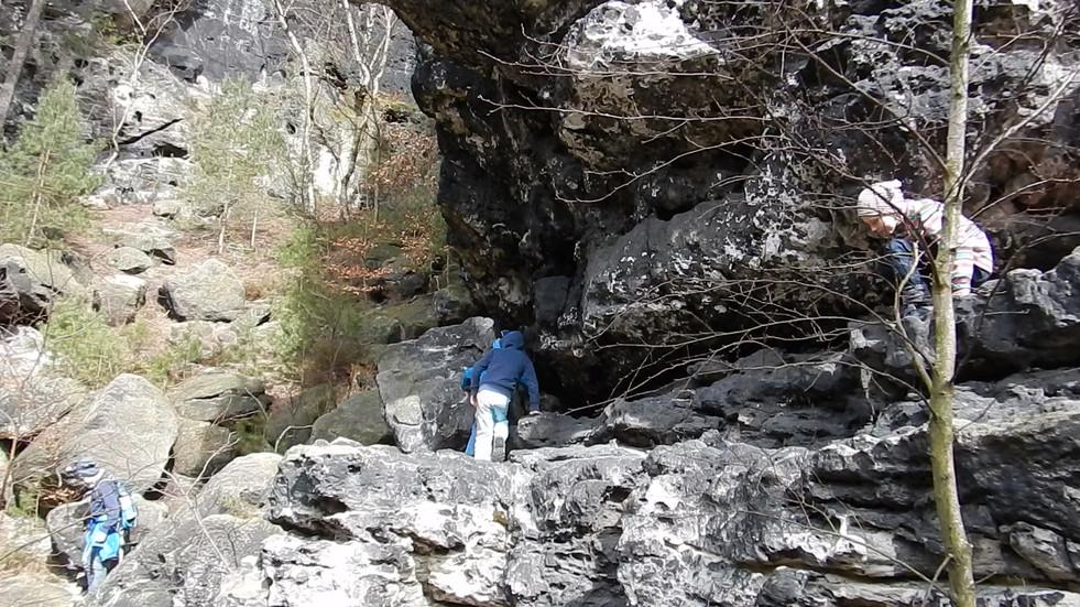 Papstdorfer Höhlenwanderung