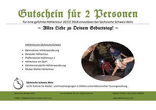 Gutschein Höhlentour