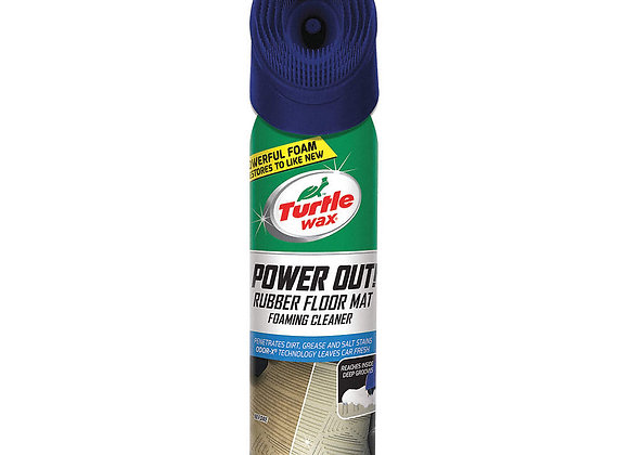 Turtle WaxPower Out! Rubber Floor Mat Foaming Cleaner, 18 oz.