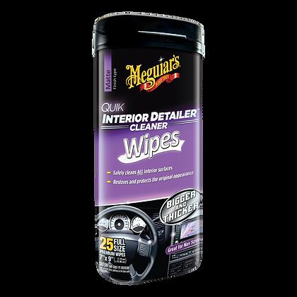 Meguiar's Quik Interior Detailer Cleaner Wipes, 25-Pack