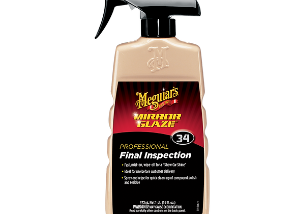 Meguiar's Mirror Glaze Professional Final Inspection, 16 oz.