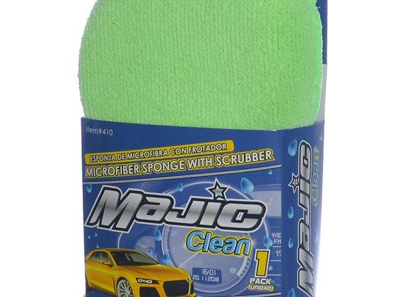 Majic Microfiber Sponge with Scrubber