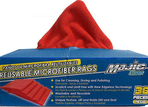 Majic Reusable Microfiber Rags, 36-Pack