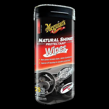 Meguiar's Natural Shine Protectant Wipes, 25-Pack