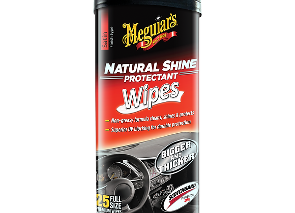Meguiar's Natural Shine Protectant Wipes, 25-Pack