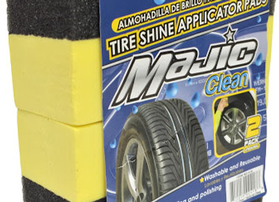 Majic Tire Shine Applicator Pads, 2-Pack
