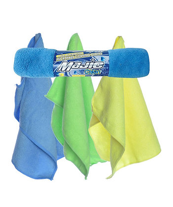 Majic Microfiber Cleaning Cloths, 3-Pack