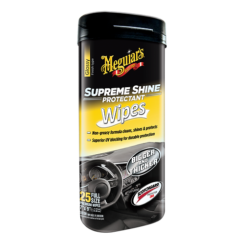 Meguiar's Supreme Shine Protectant Wipes, 25-Pack
