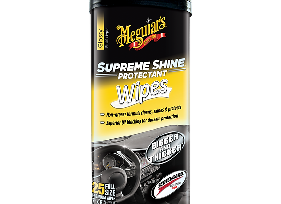 Meguiar's Supreme Shine Protectant Wipes, 25-Pack