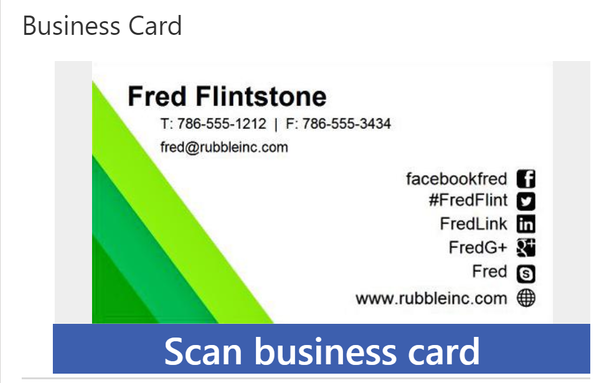 Business Card Scanner in D365CE