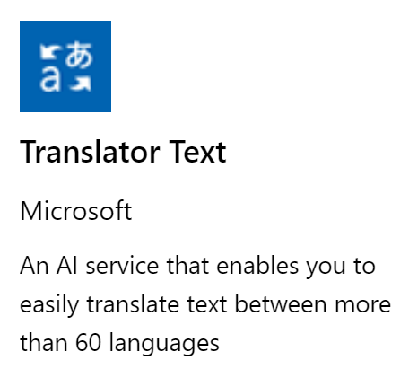 Translate Text using Azure Cognitive Services in Canvas Apps