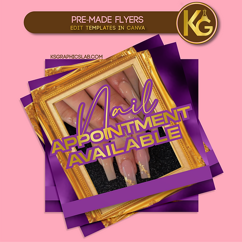 Pre-Made Nail Appointment Available Flyer
