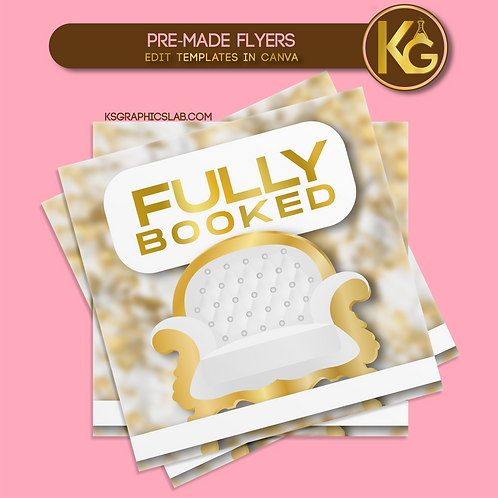 Pre-Made Fully Booked (White) Instagram Flyer