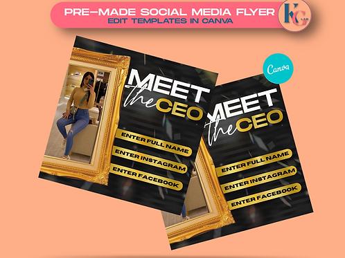 Meet the CEO (Black & Gold)