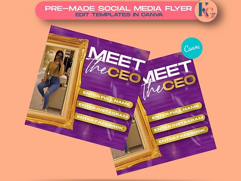 Meet the CEO ( Purple & Gold )