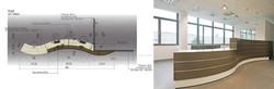 Design du bureau d'accueil