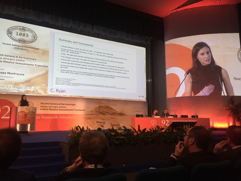 Professor Ryan presenting at the Annual Meeting of the Italian Society of Dermatology, Sorrento