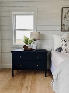 Painted Maple Nightstands, White Oak Floors