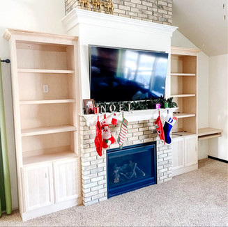 Buildt Ins (buildt around existing fireplace)