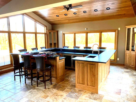 Red Oak Bar And Red Oak Ceiling