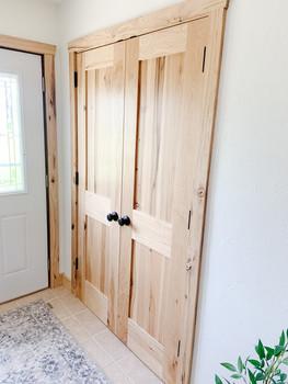 Hickory Closet Doors
