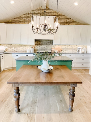 Painted Maple Cabinets and Oak Floors